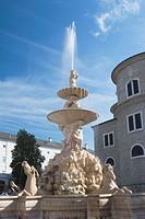 horse fountain, salzburg, austria