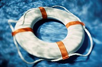 High angle view of a life preserver