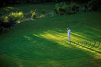 Man in Grass Shape