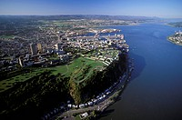 Aerial of Quebec City, Quebec, Canada