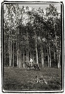 Horseback riding, Ruddock Ranch, B.C.