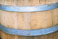 Close_up of a wooden barrel