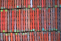Close_up of a pile of building bricks