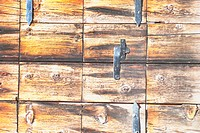 Close_up of a wooden box