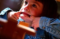 Little girl making faces (thumbnail)
