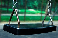 close up of a swing seat