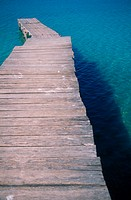 pier extending into the sea