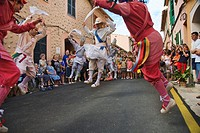'Cossiers' dance festival, Alaro, Majorca, Balearic Islands, Spain