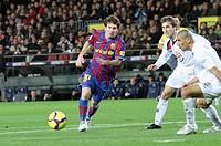 Barcelona, Camp Nou Stadium, 06/02/2010, Spanish League, FC Barcelona vs. Getafe CF, Leo Messi