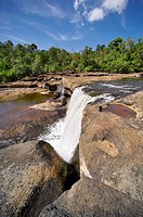 Tad Leuk is a waterfall within the Nam Leuk, one of the three major rivers of the reserve ('Tad' means waterfall, while 'Nam' means river). The riverb...