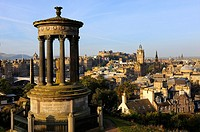 The city from the top of Calton Hill. Edinburgh. Scotland. Great Britain.