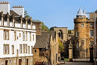 Palace and abbey of Holyroodhouse. Royal Mile. Edinburgh. Scotland. Great Britain.