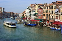 View of the Grand Canal from Rialto Bridge Ponte di Rialto, Venice, Veneto, Italy