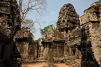 Buddha temple Banteay Kdei in Angkor city, Cambodia, Asia