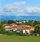 View from villa Capra ´La Rotonda´, near Vicenza, Veneto, Italy