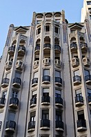 Building in downtown Montevideo, Uruguay