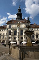 Town hall and Fountain, Lueneburg, Lower Saxony, Germany