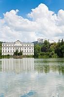 Leopoldskron Castle, Fort Hohensalzburg, Pond Leopoldskron, Salzburg, Austria