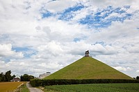 Lions Mound memorial to the Battle of Waterloo overlooking the battlefield at Waterloo, Belgium, Europe