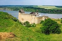 Khotyn fortress 1325-1460, Dniester river, Chernivtsi Oblast province, Ukraine
