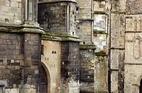 Close-up of Cathedral walls, Canterbury, Kent, England