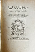 Don Quixote first edition