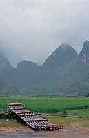 Landscape in the region of Guilin,China