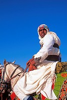 Rider on Arab stallion,International Festival of the Sahara, Douz,Tunisia