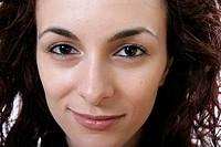 Close_up of a beautiful woman face.