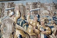 Medieval tapestry, Arles, Provence, France