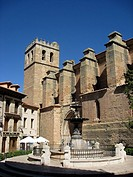 Santa Mar&#237;a Church, former Collegiate 14th-15th century, Gothic style declared as National Monument in 1944  Mora de Rubielos  Gudar-Javalambre, Terue...