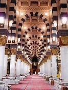 Interiors of a mosque, Al_Haram Mosque, Mecca, Saudi Arabia