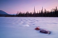 Athabasca River at Sunrise, Jasper National Park, Alberta, Canada