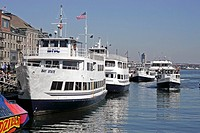 Tour boats at Long Wharf Boston