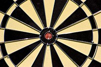 Center of a dartboard