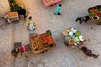 Street hawkers´ market, Medina, Oujda, Oriental region, Morocco