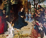 Adoration of Shepherds from Portinari Altapiece by Hugo van der Goes, ca. 1440_1482, Italy, Florence, Galleria degli Uffizi