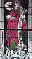 Apostle Peter, stained glass, 13th century