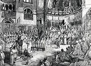 Pope Innocent III Preaches Fifth Crusade at fourth Lateran Council, Rome 1215