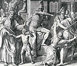 Antiochus Persecution of Israelites by Julius Schnorr von Carolsfeld, illustration, 1794_1872