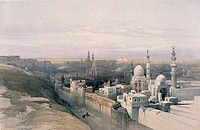 Cairo, from Egypt and Nubia, David Roberts, 1846_49, 1796_1864, USA, Illinois, Chicago, Newberry Library