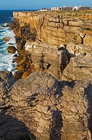 Cliffs at Atlantic Coast. Carvoeiro cape. Peniche. Estremadura. Portugal.