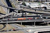 USA, Texas, Austin, Elevated roads