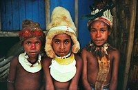 Chimbu children in traditional dress in the highlands of Papua New Guinea