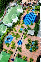 Luxury apartment swimming pool complex Batu Ferringi resort Penang