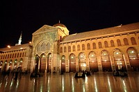 Umayyad Mosque at night, Damascus, Syria
