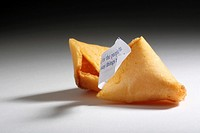 Fortune Cookie Close-up