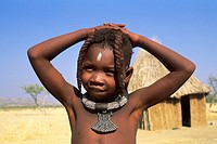 namibia, himba child, opuwo
