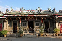 Myanmar, Burma, Yangon, Rangoon, Kheng Hock Keong Chinese temple,
