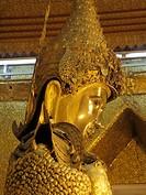 Myanmar, Burma, Mandalay, Mahamuni Pagoda, Buddha image,